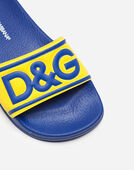 Dolce&Gabbana RUBBER SLIDERS WITH PATCH
