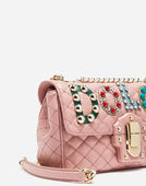 LUCIA SHOULDER BAG IN LEATHER WITH PATCHES