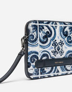 POUCH IN PRINTED LEATHER