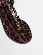 SANDALS IN PRINTED RUBBER