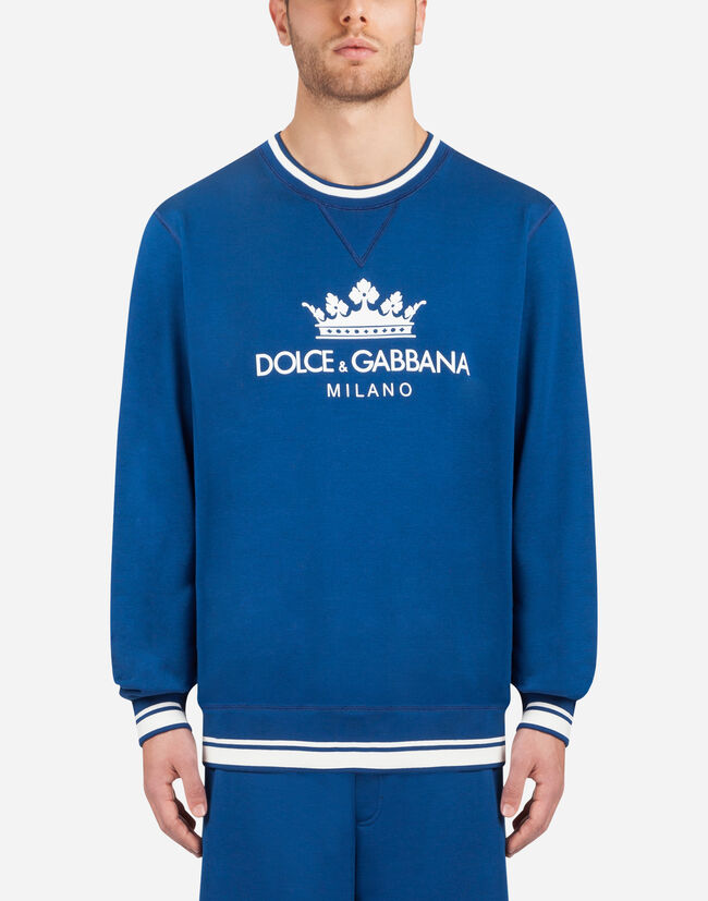 Dolce&Gabbana COTTON SWEATSHIRT WITH PATCH