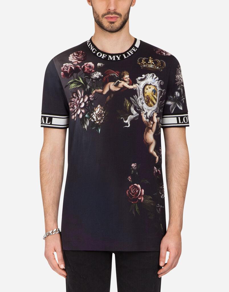 T shirts and polo for men dolcegabbana dolcegabbana printed cotton t shirt izmirmasajfo