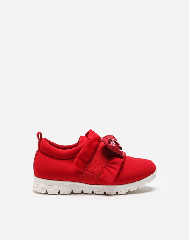 LYCRA SNEAKERS WITH BOW
