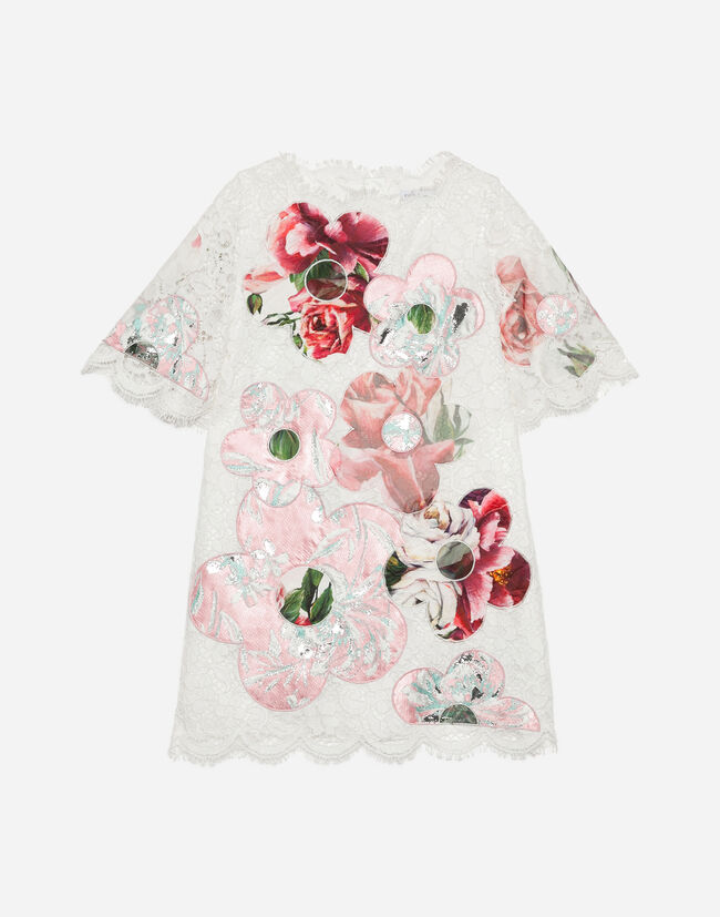 Dolce&Gabbana EMBROIDERED LACE DRESS
