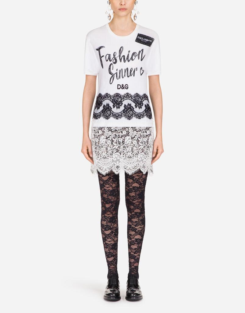 Womens T Shirts And Sweatshirts Dolcegabbana I Am Cotton Sleeveless Romper Blue Sea Dolce Gabbana Printed Shirt