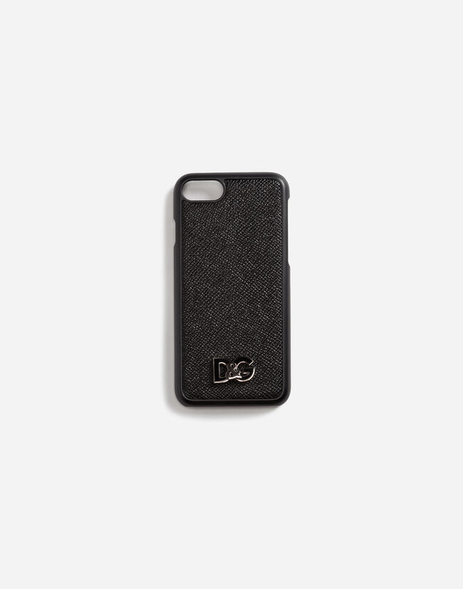 Dolce & Gabbana IPHONE 7/8 COVER IN DAUPHINE CALFSKIN