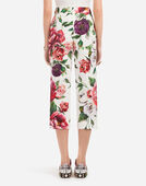 Dolce & Gabbana PEONY-PRINT BROCADE PANTS