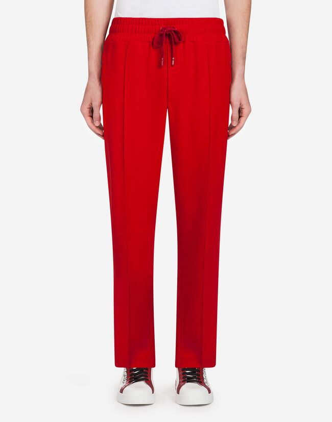 Dolce&Gabbana CADY JOGGING PANTS WITH BANDS