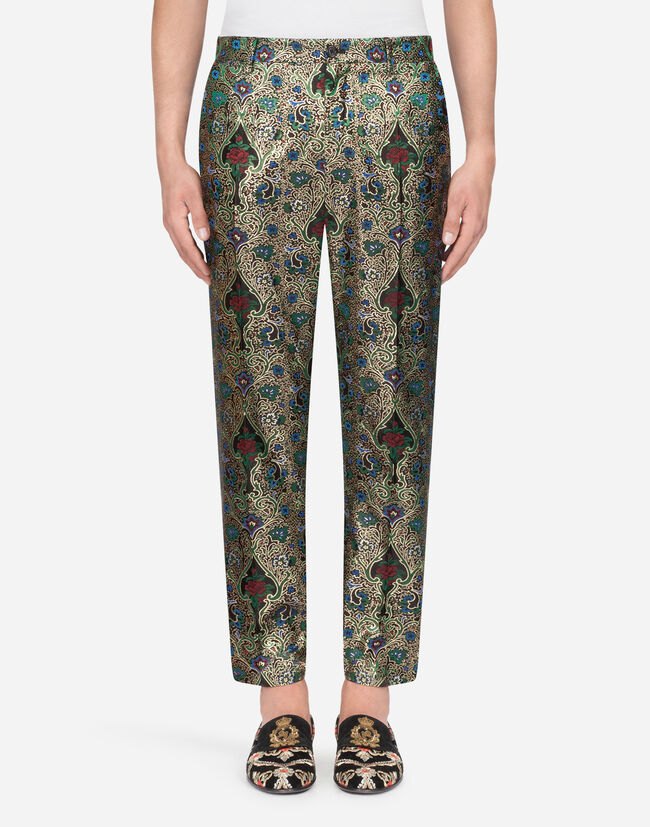 Dolce & Gabbana LUREX JACQUARD PANTS