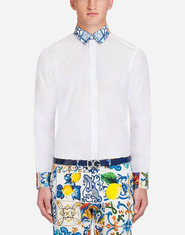 Dolce&Gabbana COTTON MARTINI FIT SHIRT