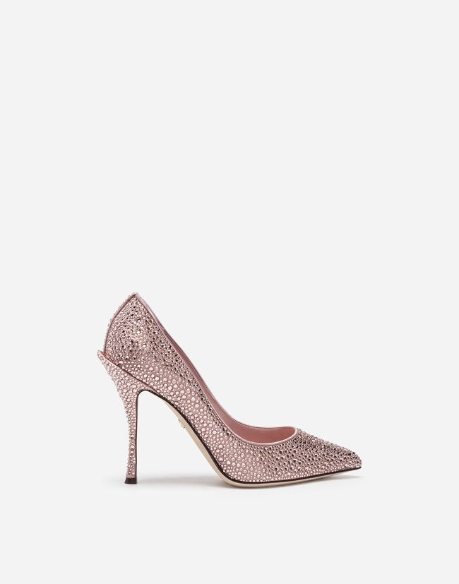 Dolce & Gabbana PUMPS IN SATIN AND CRYSTAL