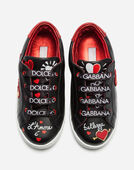 Dolce & Gabbana LEATHER SNEAKERS WITH EMBROIDERY