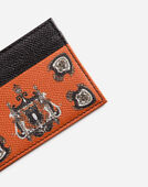 Dolce & Gabbana CARD HOLDER IN PRINTED DAUPHINE LEATHER