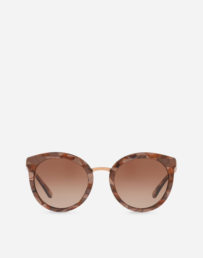 Dolce & Gabbana OVAL ACETATE SUNGLASSES