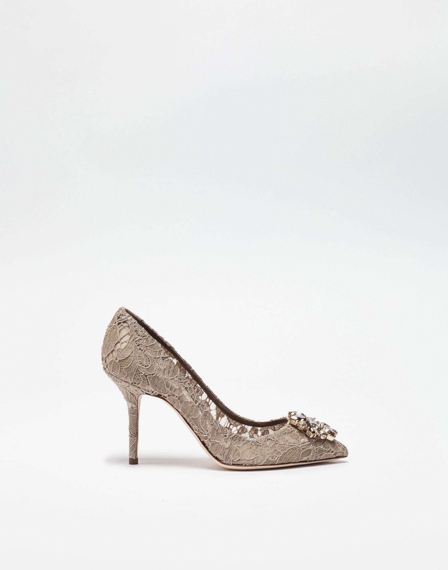Dolce and Gabbana Bellucci Lace Pumps Fard R9330