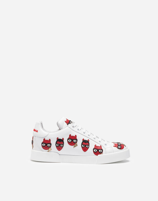 PRINTED LEATHER PORTOFINO SNEAKERS