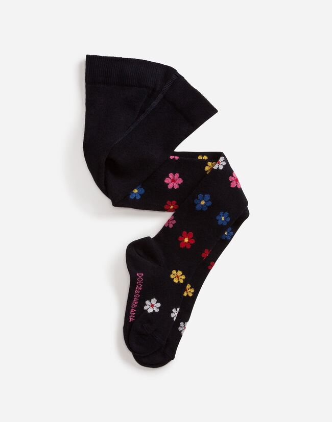 Dolce&Gabbana COTTON TIGHTS WITH DECORATIONS