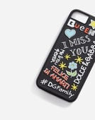 IPHONE 7/8 COVER WITH RUBBER MURAL DETAIL