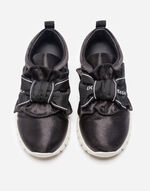 SATIN SNEAKERS WITH BOW