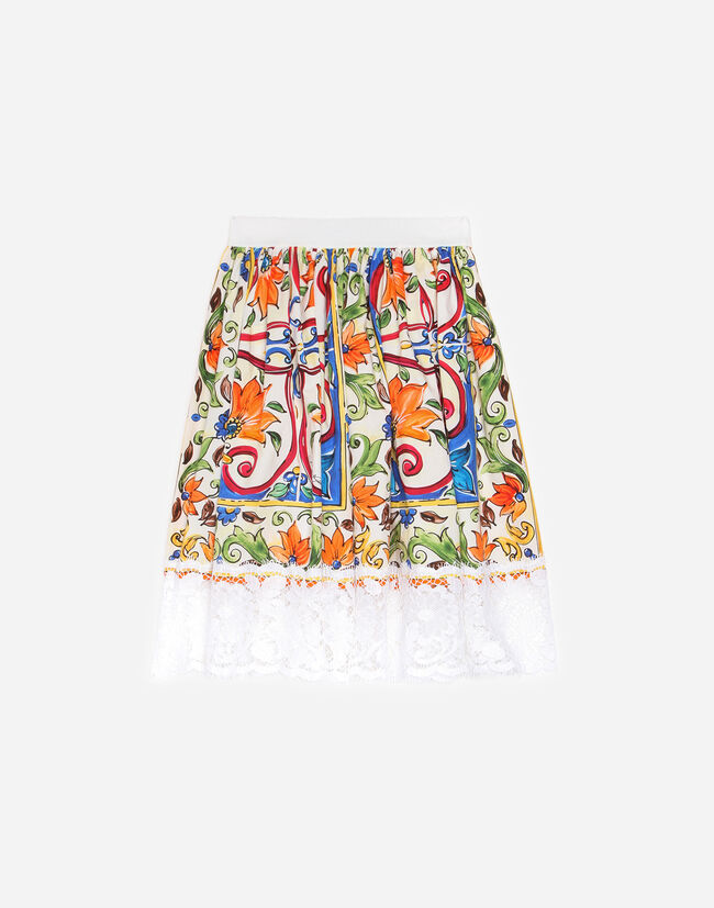 PRINTED COTTON SKIRT