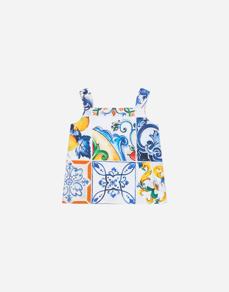 Dolce&Gabbana PRINTED COTTON TOP