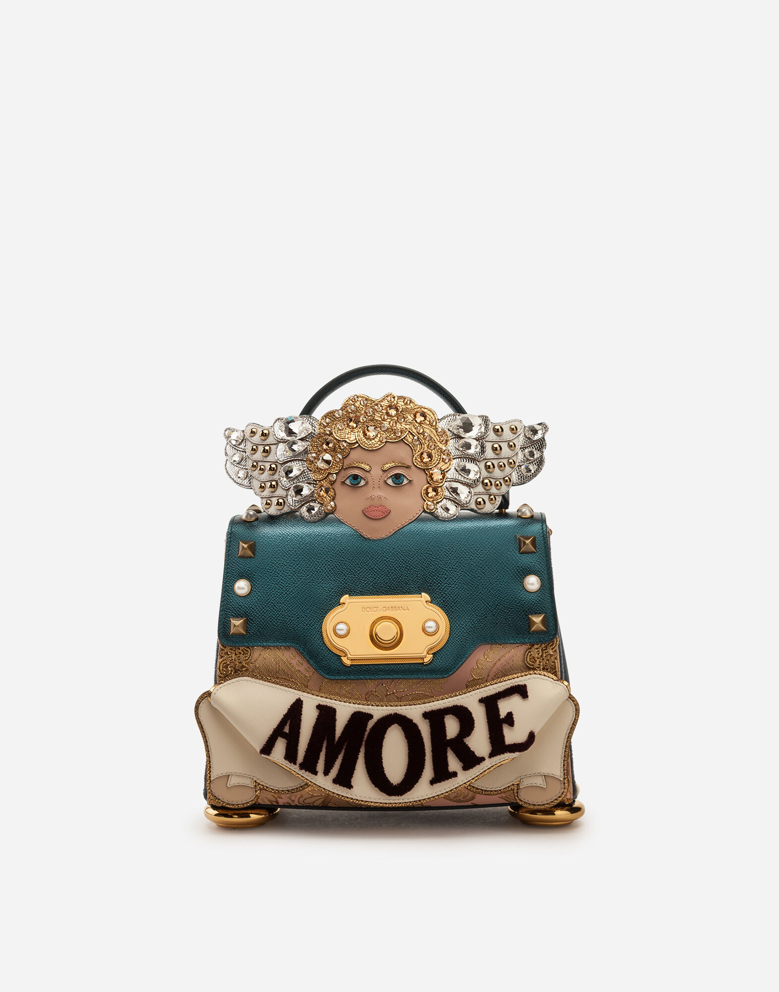 1f48915663 Dolce gabbana medium welcome handbag in a mix of materials with patch and  embroideries jpg 804x1024