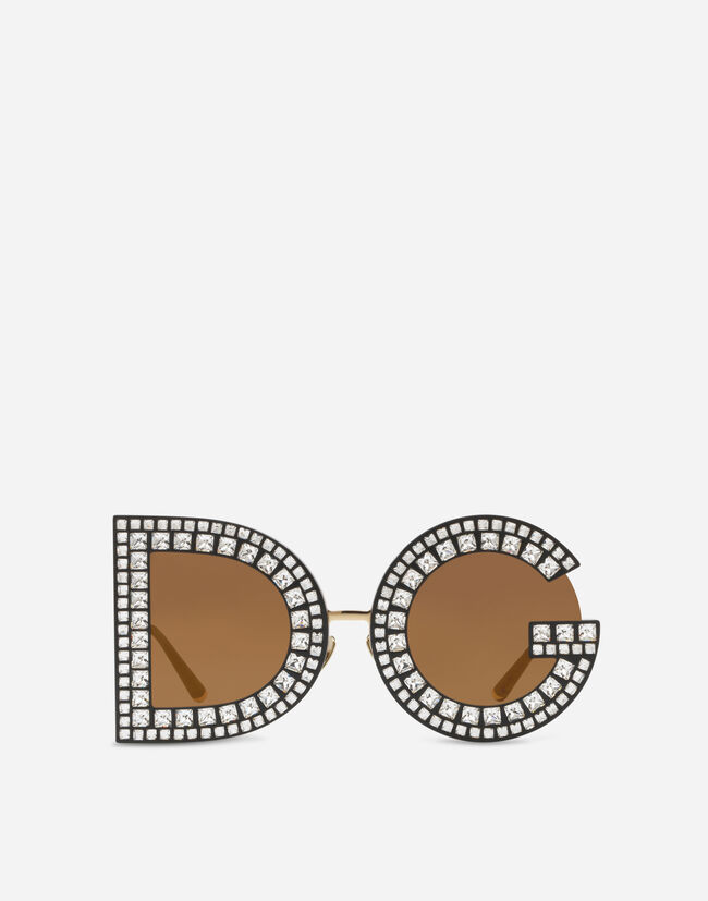 Dolce & Gabbana DG SUNGLASSES WITH CRYSTAL DETAILS