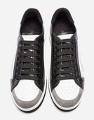 ROMA SNEAKERS IN COATED CANVAS AND CALFSKIN