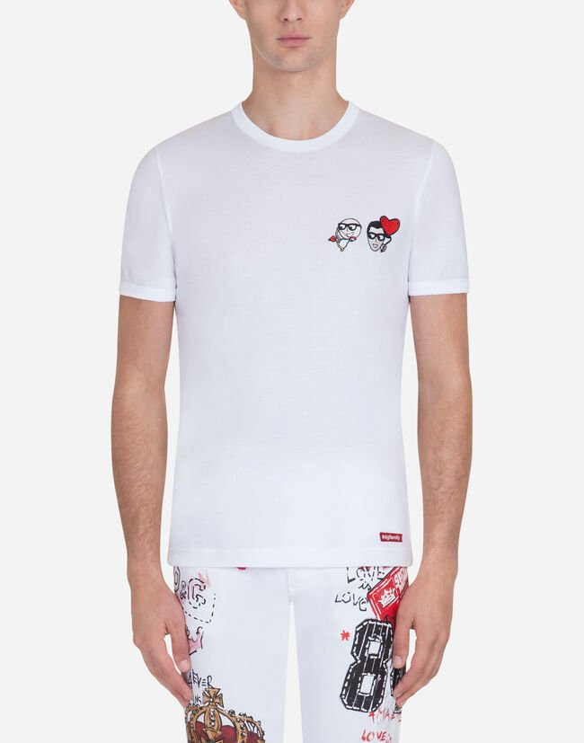 COTTON T-SHIRT WITH PATCHES