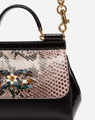 Dolce & Gabbana SICILY CROSS-BODY BAG IN A MIX OF MATERIALS