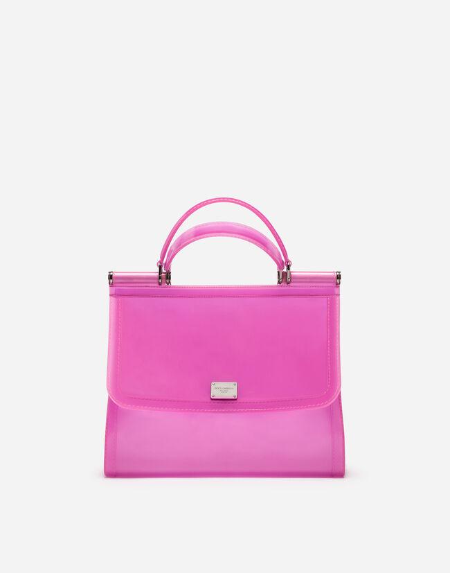 Dolce & Gabbana SEMI-TRANSPARENT RUBBER SICILY HANDBAG