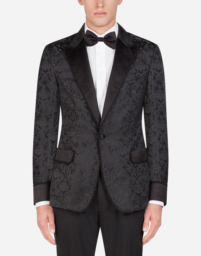 Dolce & Gabbana TUXEDO-STYLE SMOKING JACKET IN JACQUARD