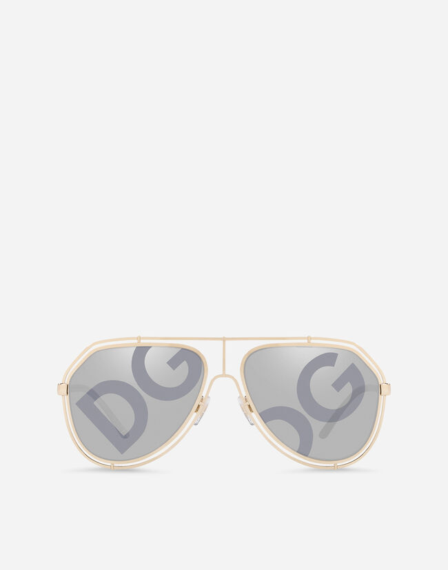 Dolce & Gabbana PILOT SUNGLASSES WITH METAL PROFILE