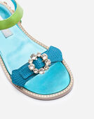 LEATHER SANDAL WITH APPLIQUÉS