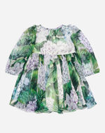 PRINTED SILK DRESS WITH BLOOMERS