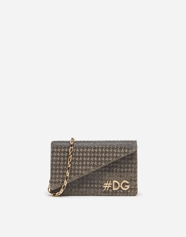 Dolce&Gabbana DG GIRLS CLUTCH IN LAMÉ KNIT