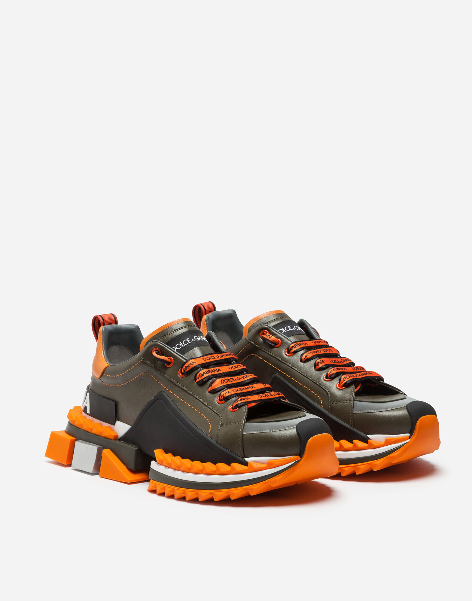 Dolce Amp Gabbana Multicolor Super King Sneakers In 8r538