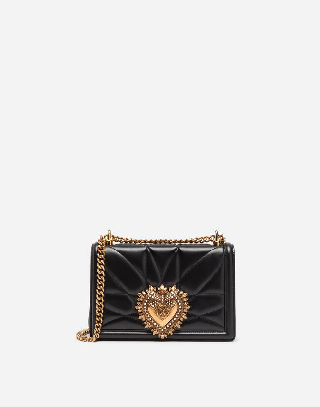 Dolce&Gabbana MEDIUM DEVOTION BAG IN QUILTED NAPPA LEATHER