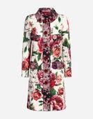 Dolce & Gabbana PEONY-PRINT BROCADE COAT