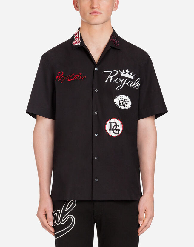 COTTON HAWAII FIT SHIRT WITH PATCH