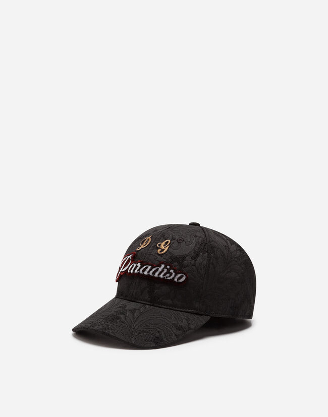 BASEBALL CAP IN BROCADE WITH PATCH