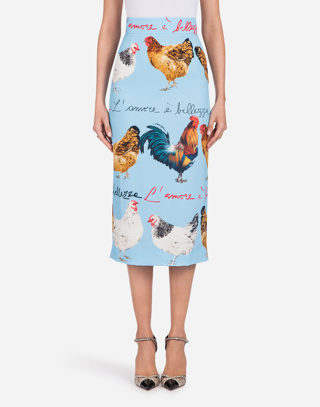 Dolce & Gabbana PRINTED CADY SKIRT