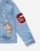 DENIM BLAZER WITH PATCHES
