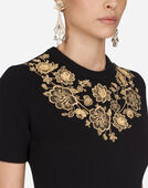 Dolce & Gabbana CASHMERE SWEATER WITH EMBROIDERY