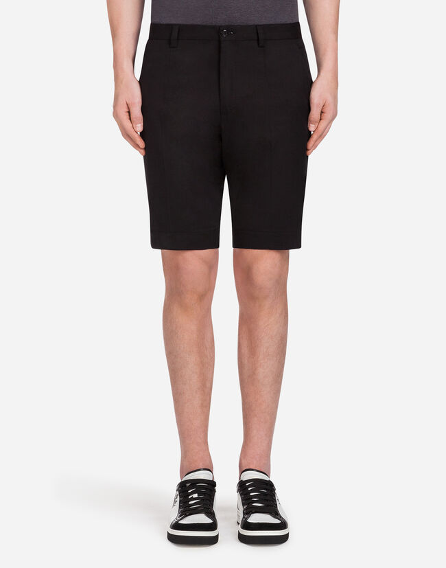 STRETCH COTTON BERMUDA SHORTS
