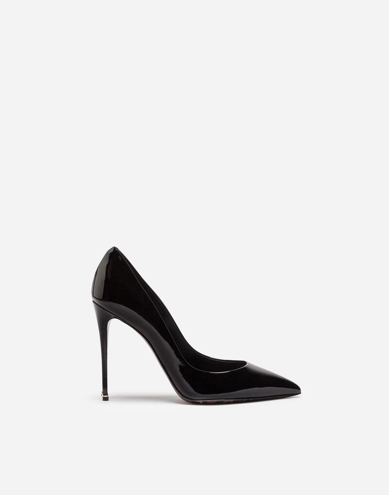 PATENT LEATHER PUMP WITH LEOPARD SOLE