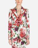 Dolce&Gabbana PEONY-PRINT CADY JACKET
