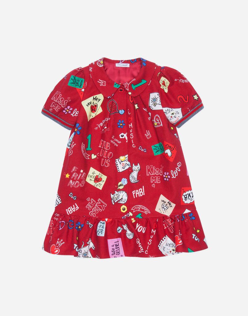 Dolce&Gabbana PRINTED FLANNEL DRESS