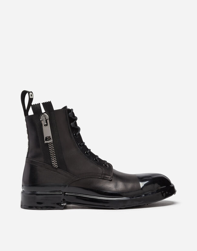 Dolce & Gabbana ANKLE BOOT IN SUMMER CALFSKIN WITH IMMERSION FINISH