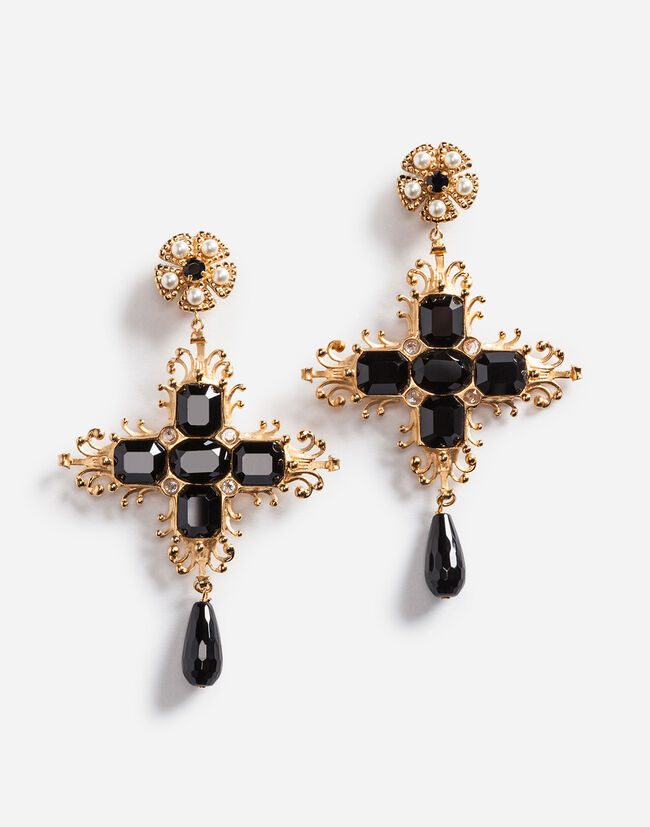clooney dolce swarovski gabbanafiori earringsnetaportercom crystal amal and tag dolcegabbana goldplated style earrings clip amp gabbana